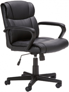 Amazon Basics Classic Leather-Padded Office Chair